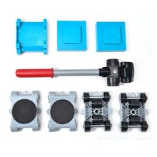8pcs Furniture Mover Tool Set Transport Shifter Lifter Wheel Heavy Stuffs Moving Y98E