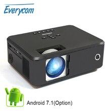 Everycom X20 비디오 휴대용 피코 프로젝터 2200 루멘 네이티브 800*600 옵션 안드로이드 지원 4K 1080p 홈 시어터 프로젝터