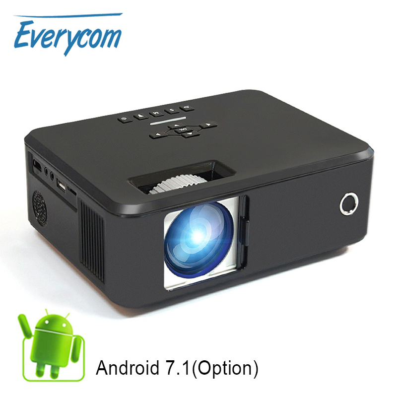 Everycom X20 Video Portable Pico Projector 2200 Lumens Native 800 600 Option Android Support 4K 1080p Home Theater Projectors