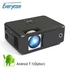 Przenośny projektor wideo Everycom X20 2200 lumenów natywna opcja 800*600 obsługa androida projektory kina domowego 4K 1080p