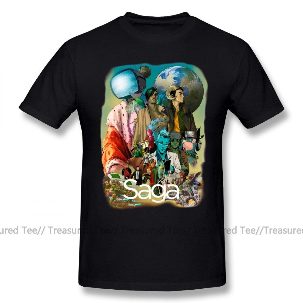 Geek T Shirt Saga Comic Characters Geek T-Shirt Graphic 5x Tee Shirt Male Funny Short Sleeves Casual 100 Percent Cotton Tshirt