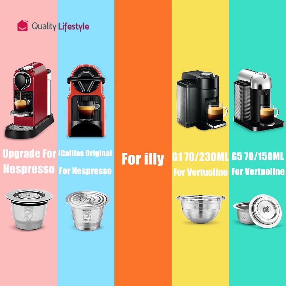 ICafilas كبسولة القهوة القابلة لإعادة الملء نسبرسو & دولتشي غوستو & Vertuoline & Illy انخفاض الشحن Vip Link|Coffee Filters| - AliExpress