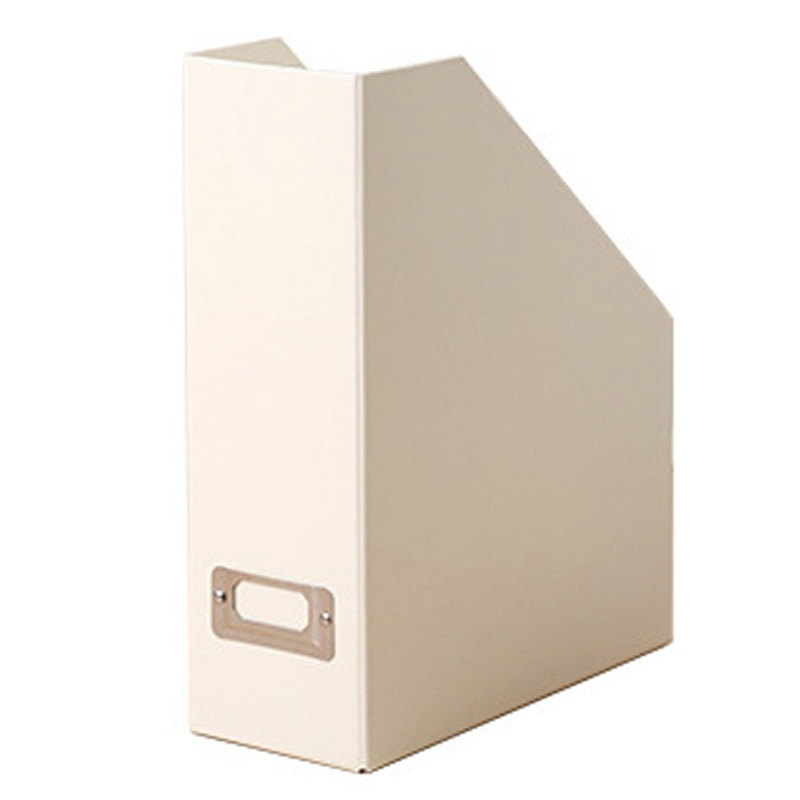 Magazine File, Office Desk Trapezoidal Box Paper Folder Finishing Box Book Ladder Frame Magazine Basket 12.25 X 9.75 X 3.75 Inch