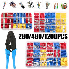 280/480/1200PCS Assorted Crimp Spade Terminal Electrical Wire Cable Connector Crimp Spade Insulated Ring Fork Spade Butt Kit
