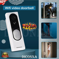 Smart WiFi Doorbell Camera Video Wireless Remote Door Bell CCTV Chime Phone APP Twoway Talk Home Security Aprtment