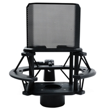 Desktop Microphone Shock Mount Holder with Filter Windsn Suspension Clip