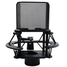 Desktop Microphone Shock Mount Holder with Microphone Filter Windsn Suspension Shock Mount Holder Clip boya anti shock mount for by mm1 microphone