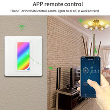 Countdown Timer Led WIFI Fan Wall Light Smart Home Reschedule Color Changing Remote Mechanical Touch RGB Switch Scene(China)
