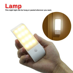 Taśmy lampa indukcyjna ludzkiego ciała czujnik ruchu na podczerwień LED ładowane na USB światło Nightlight