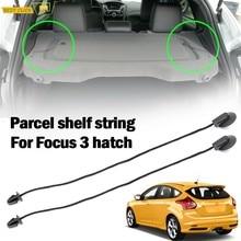 2 uds. Para Ford Focus 3 MK3 Hatchback 2012-2018, paquete Interior trasero, cordón para bandeja, cubierta Interior de Tonneau, correa, cordón BM51A46538AA