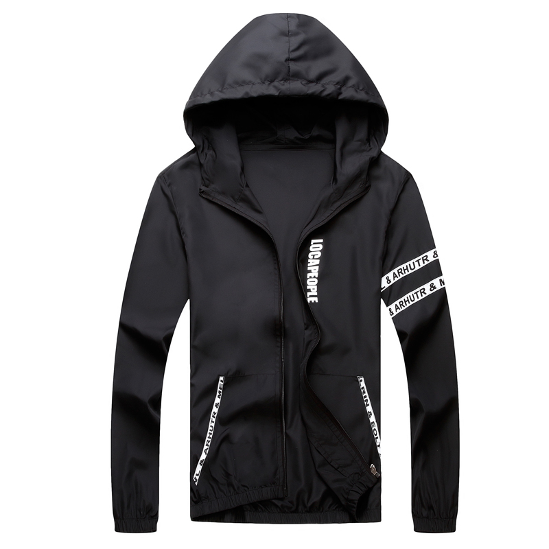 Men`s windbreaker summer Sun protection jacket outwear sports Cycling Thin  hooded coats men jaqueta masculina Brand clothing 4
