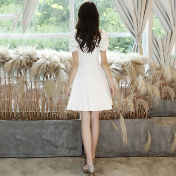 Prom Dresses  Knee-Length  A-Line  Pleat  Cocktail Dresses Satin Dresses Woman Party Night 2