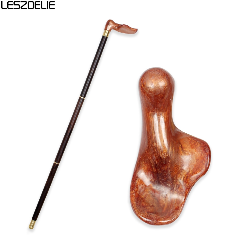 Luxury Resin Handle Walking Stick Wooden Canes Man Decorative Cane Women Fashion Elegant Walking Stick Vintage Walking Canes