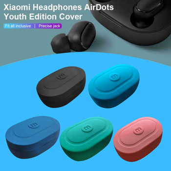 Multi-color Silicone Earphone Case Headphones Cover Headset Shell For Xiaomi MI Redmi AirDots TWS Bluetooth Earphone Wireless image