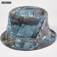 SILOQIN NEW Panama Fashion Sheepskin Bucket Hats Trend Autumn Genuine Leather Hat For Men Women Brands Personality Sombrero Cap