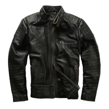 1820 Super Offer ! Read Description! Asian size genuine cow skin leather jacket