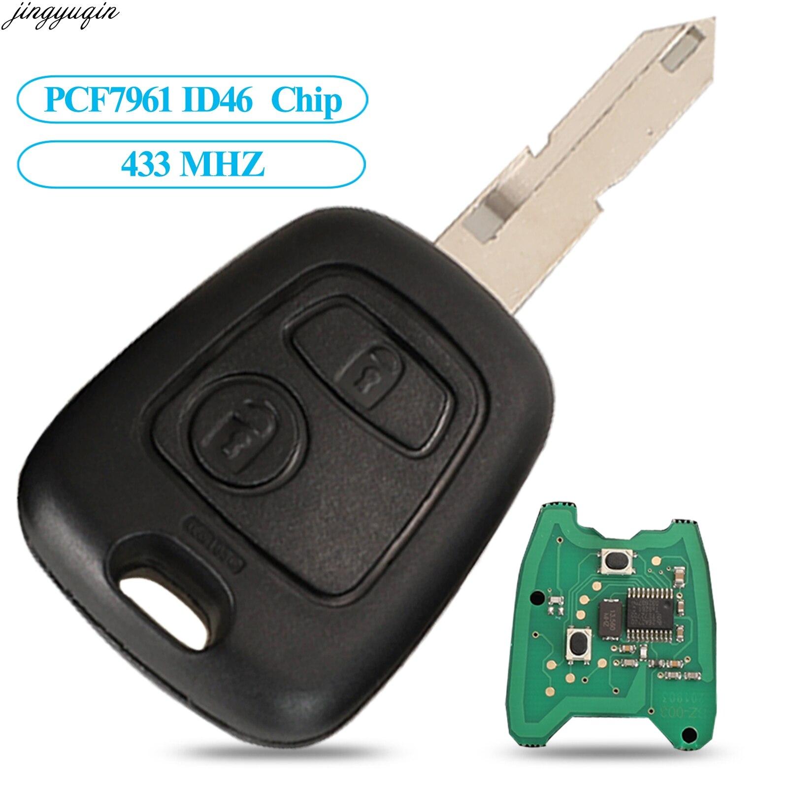 Remote Key Fob pulsante 3 A per Citroen C2 C6 C3 C4 C5 C8 XSARA PICASSO