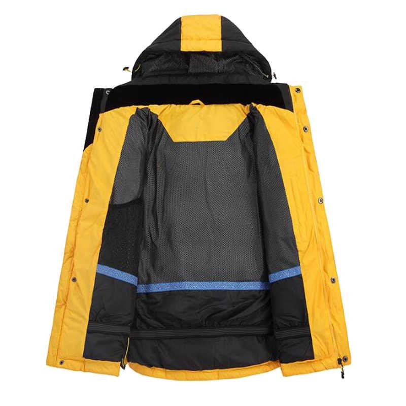 גברים של עמיד למים חורף חם למטה מעיל גברים Windproof מזדמן שלג כותנה מרופדת מעיילי מעיל זכר לעבות מעיל רוח מעיל