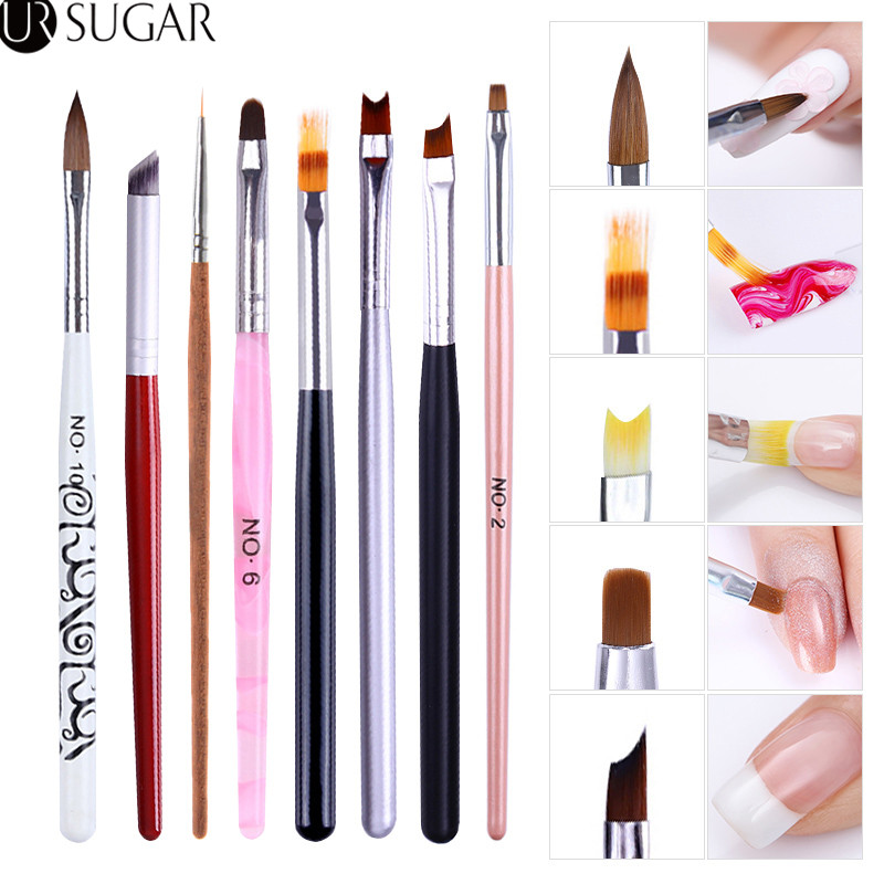 Nail Brush For Manicure Gel Brush Line Flower Pen Dotting Painting Gradient Brush Acrylic Manicure Nail Art Tool For Gel Polish