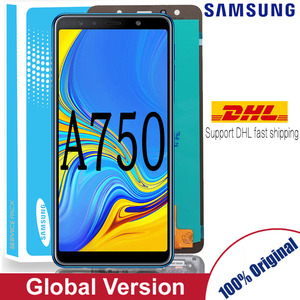 Original 6.0'' AMOLED LCD Replacement for samsung Galaxy A7 2018 A750 SM-A750F A750F Display With Touch Screen Assembly Part