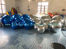Large inflatable mirror balloon, pvc ball, a variety of colors and sizes, customized for advertising campaigns