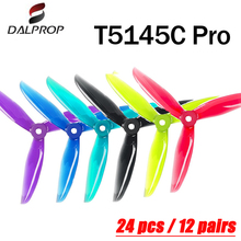 24 pcs/12 pair DALPROP CYCLONE T5145C PRO 5inch 3 Blade/ tri Blade Propeller Brushless Motor FPV Propeller for FPV Racing Drone