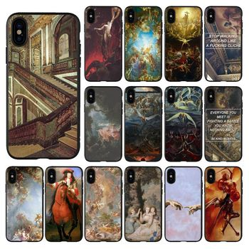 palace of versailles The Creation of Adam Art Smart Cover Phone Case for iPhone 11 pro XS MAX 8 7 6 6S Plus X 5 5S SE XR case image