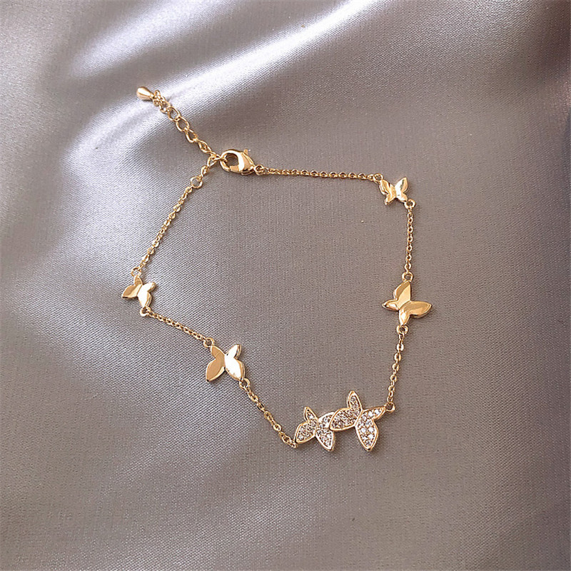 XIYANIKE Prevent Allergy 925 Sterling Silver Wedding Bracelet for Women Couples Classic Crystal Butterfly Hand Jewelry Gifts(China)