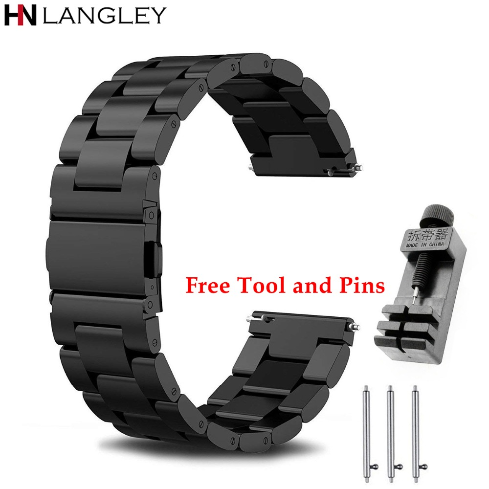 General Watch Bands Quick Release Bracelet Width 18mm / 20mm / 22mm / 24mm Stainless Steel Strap Wrist Replacement Watch Bands