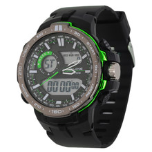 Alike AK15115 Sports Military Date Time Rubber Men's Digital Watch 12/24 Hour Display Water Resistance/Calendar/Alarm hot(China)