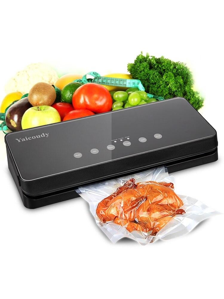 Sealers Bags Vacuum-Sealer-Machine Food-Saver Vacuum-Food Kitchen Household Free 10pcs