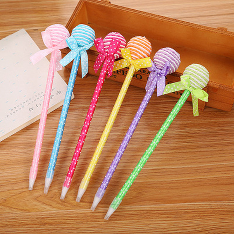 1pcs Lollipop Gel Pen 0.7mm Cute Pen Novelty Student Kawaii Pens Cute Stationery Writing Pens Kawaii School Supplies