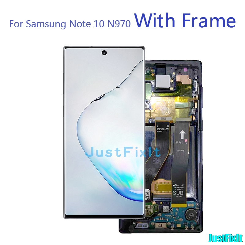 For Samsung Galaxy Note 10 Lcd with Frame Display Touch Screen Digitizer Assembly Note10 N970F N9700 N970 Original Super amoled