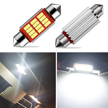 2pcs Canbus Error Free 36MM C5W LED Car License Plate Light 12V For Mercedes Benz W208 W209 W203 W169 W210 W211 W212 AMG CLK image
