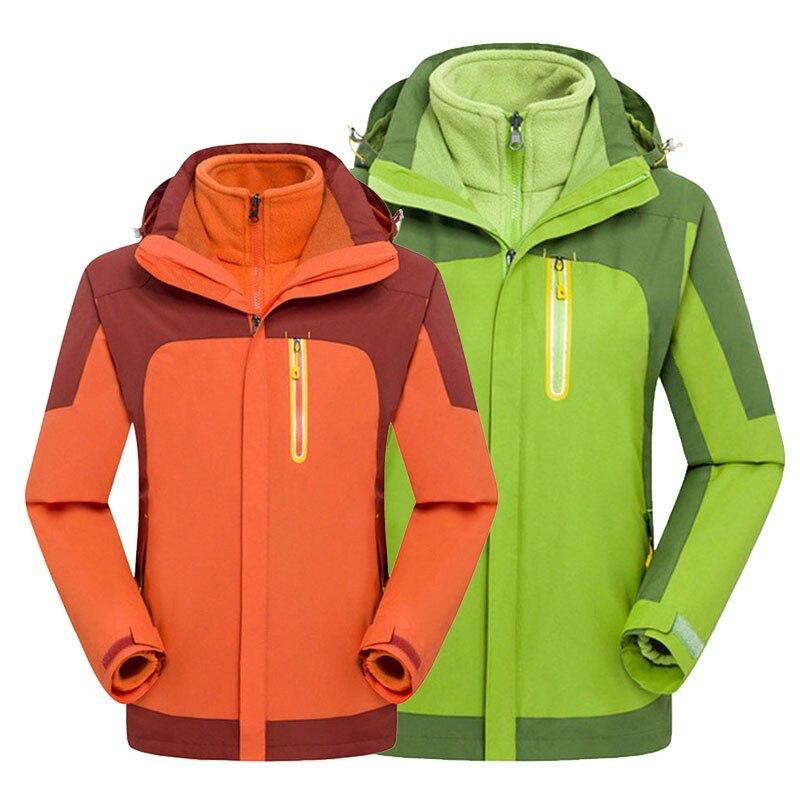 New Winter Fleece Waterproof Jacket For Women&Men Hiking Clothing Windproof Climbing Fishing Ski Softshell Jacket Hunting Jacket