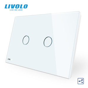 Image 2 - LIVOLO US C9 Standard Touch Screen Wall Light Switch,2 Ways Cross Through Control,Crystal Glass Panel,Up Donw Stair