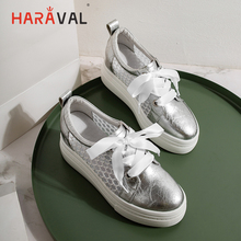 HARAVAL Summer fashion round head mesh sandals high heel sports shoes comfortable breathable white single women N109