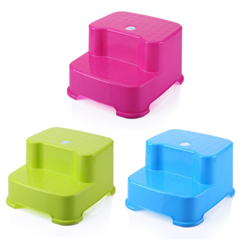 Kids Small Chair Seat Footstool Multi-function Children Ottoman Child Baby Double-layer Non-slip Step Stool