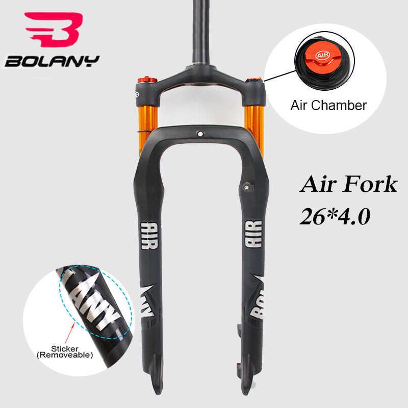 "26*4.0/"" Fat Bike Suspension Fork 100mm Travel 1-1//8 Snow Beach MTB Air Forks 26/"""