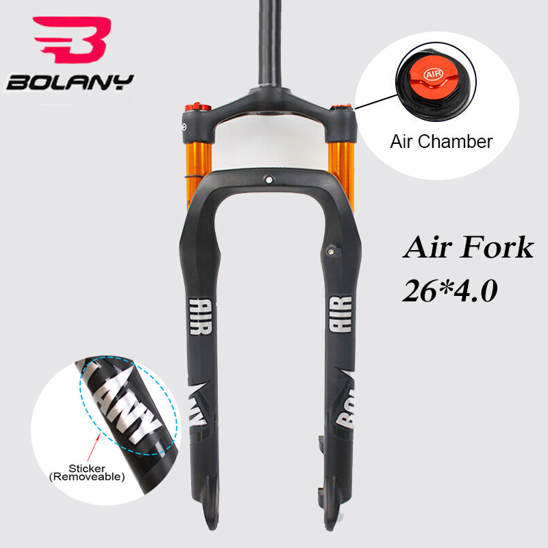 "LUTU Snow Beach Fat Fork 26*4.0/"" Bike Air Suspension Forks 135mm 4.0 Tire 1-1//8/"""