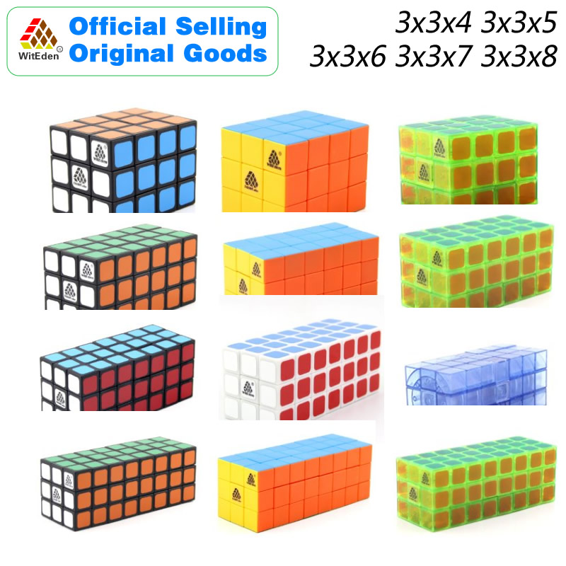 WitEden Cuboid 3x3x4 3x3x5 3x3x6 3x3x7 3x3x8 Magic Cube Puzzles Speed Brain Teasers Challenging Educational Toys For Children