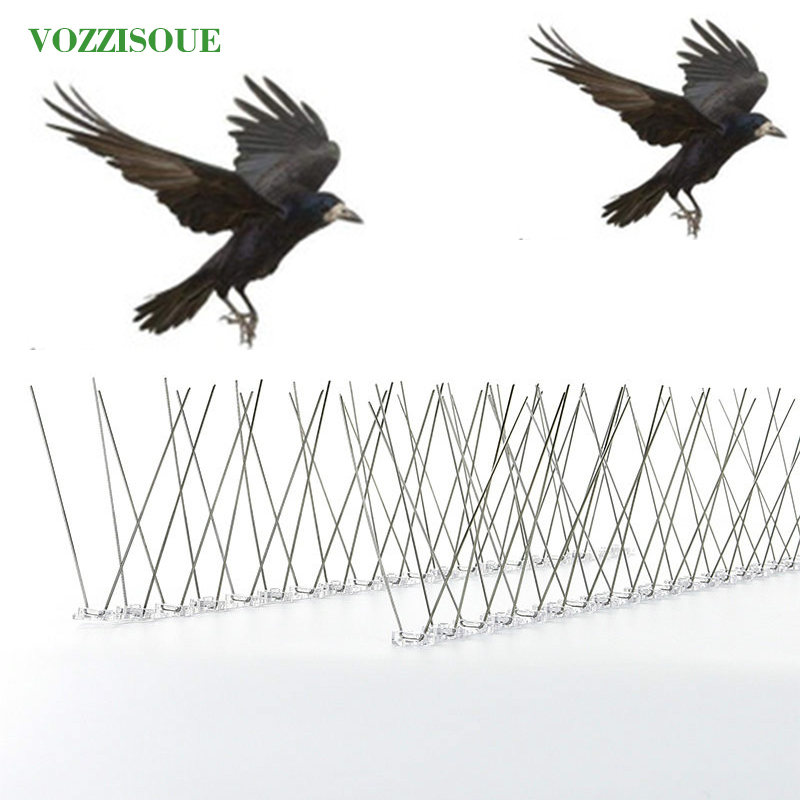 Venda quente quente 6 m plástico pássaro e pombo spikes anti pássaro pigeon spike para se livrar de pombos e assustar aves controle de pragas