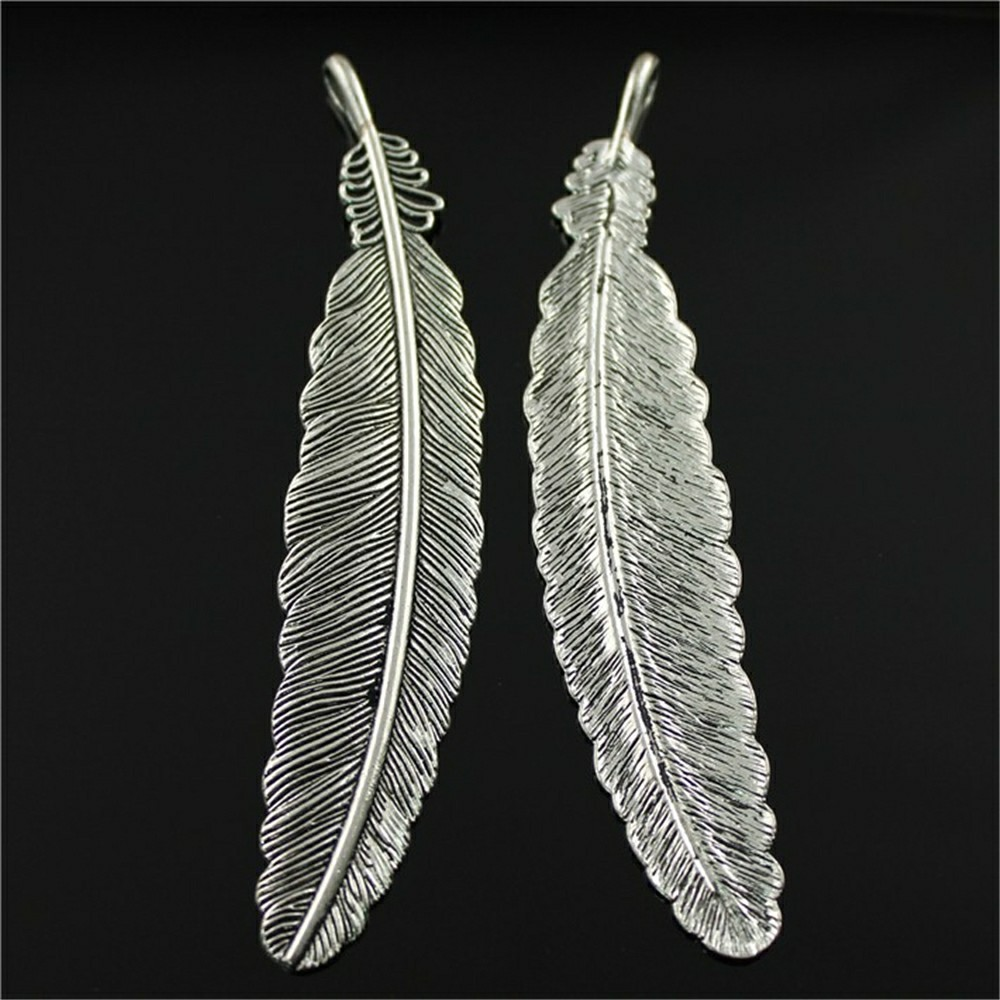 4pcs 3 Colors Feather Charms Large Pendant Large Feather Pendant Charms Big Feather Pendant 106mm