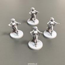 цена на Lot 4pcs Female Heroes Miniatures Role Playing Miniatures Board Game Figures