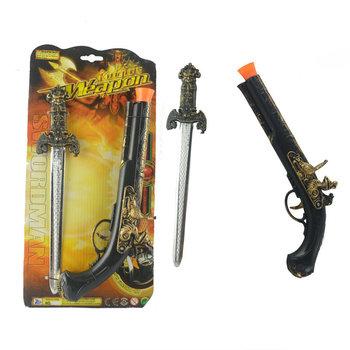 Stoisko z zabawkami dla dzieci gorąca sprzedaż broni z tworzywa sztucznego sprzęt rekwizyty COS sprzęt z tworzywa sztucznego Pirate pistolet-zabawka miecz zestaw zaopatrzenie firm tanie i dobre opinie Żywica CHRISTMAS HALLOWEEN Wielkanoc