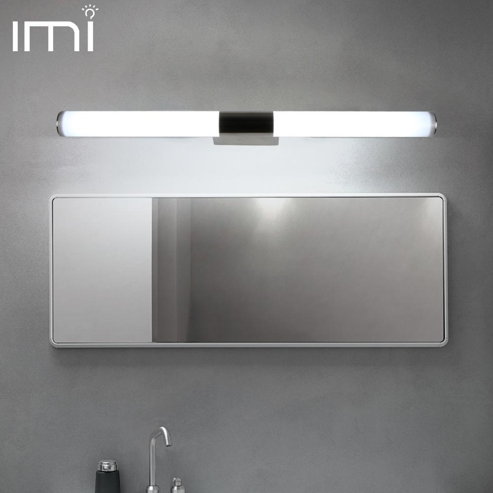 LED Mirror Lighting Bathroom Waterproof IP65 Makeup Wall Lamp 110V 220V Stainless Steel Vanity Light Indoor Lamp Fixture