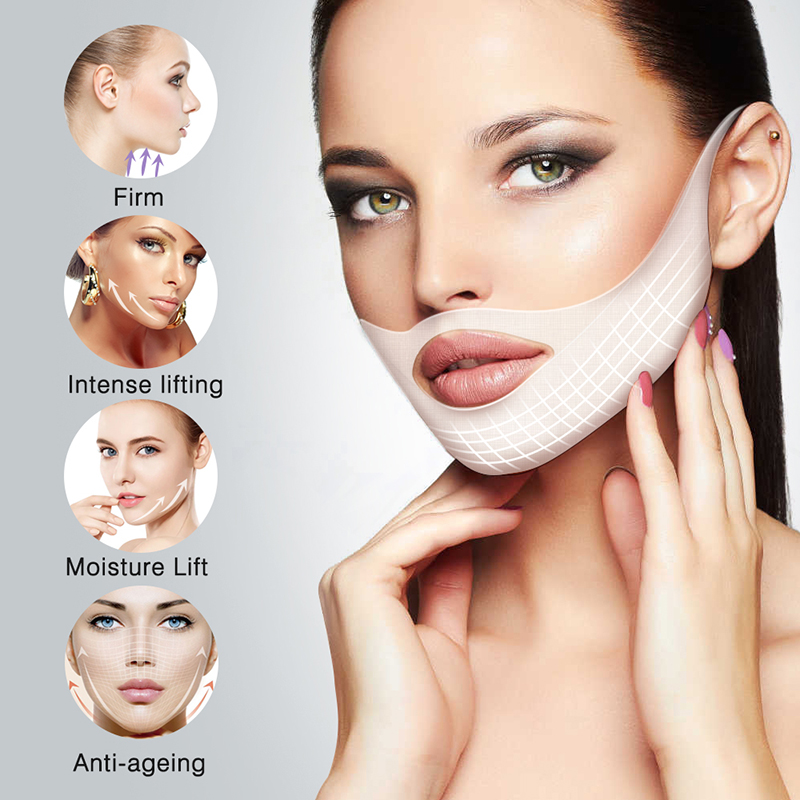 Double V Face Shape Tension Firming Mask Paper Slimming Eliminate Edema Lifting Firming Thin Masseter Face Care Tool