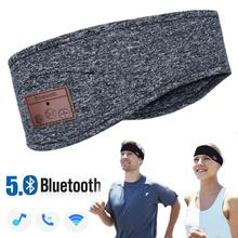 JINSERTA Bluetooth 5.0 musique bandeau casque avec micro sans fil écouteur casque pour la course Yoga gymnase sommeil sport écouteur