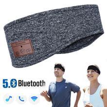 JINSERTA Bluetooth 5,0 Музыкальная гарнитура с микрофоном, беспроводные наушники для бега, йоги, тренажерного зала, сна, спортивные наушники