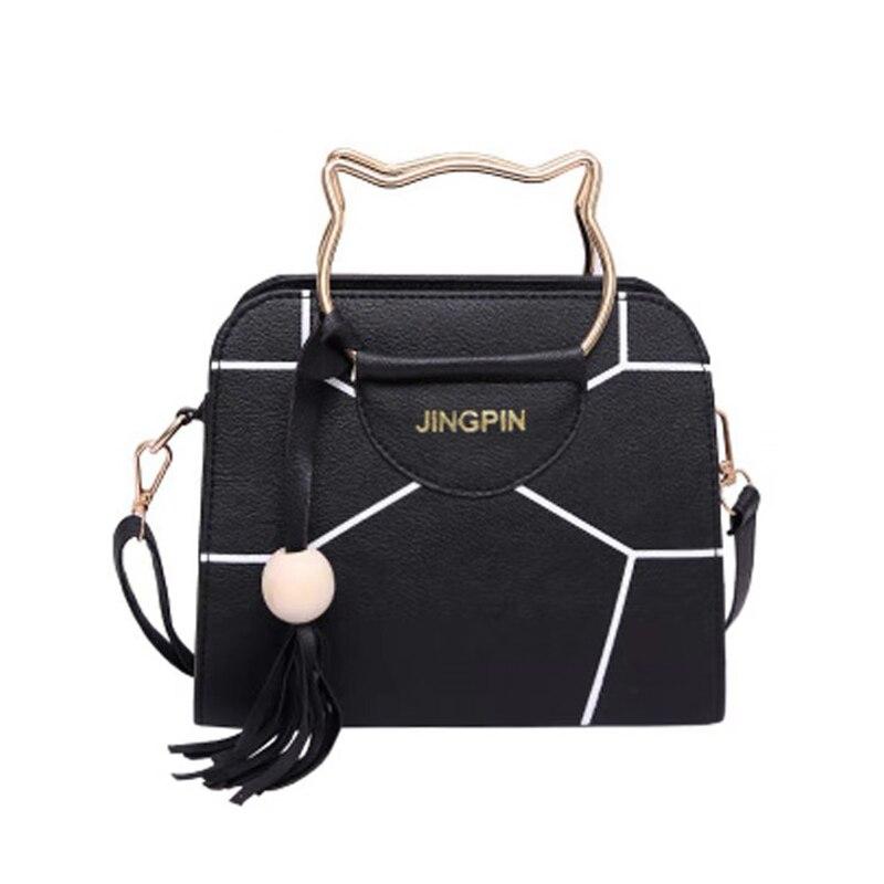 Fashion Women Designer Handbag Tassel Shoulder Small Bag Top Handle Totes Metal Ring Crossbody Bags Casual Messenger
